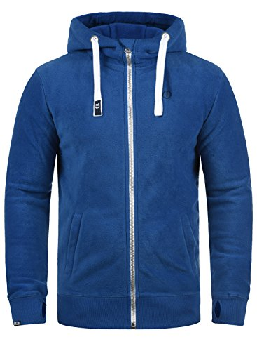 !Solid Loki Herren Fleecejacke Sweatjacke Jacke Mit Kapuze Und Daumenlöcher, Größe:M, Farbe:Faded Blue (1542)