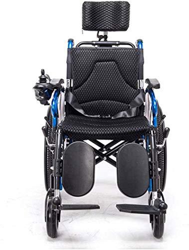41bnJK+Ya6L - Sillas de ruedas eléctricas para adultos Silla de ruedas eléctrica Silla de ruedas plegable y reclinable silla de ruedas, ancianos y discapacitados de cuatro ruedas del vehículo Cuidado, 150 kg de automobile
