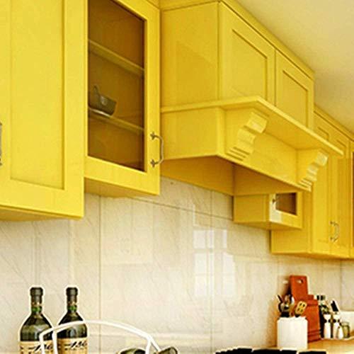 Yellow Peel and Stick Wallpaper Self Adhesive Vinyl Decorative Film for Kitchen Countertops Cabinets Wardrobe Furniture (15.8' X 78.8')