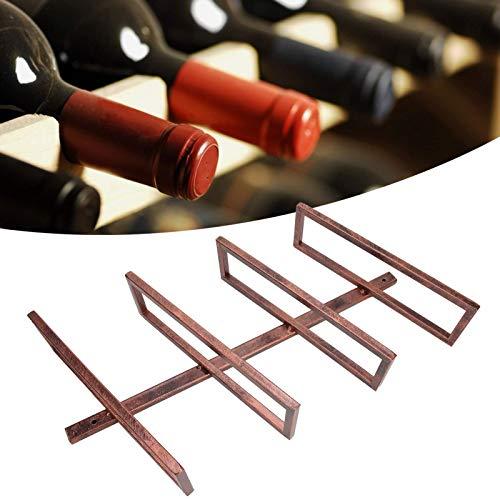 cersalt Estante para Vino montado en la Pared, Estante para Vino, Soporte para Botellas de Vino Material de Hierro(Inclined Wine Rack 4 Bottles of Bronze)