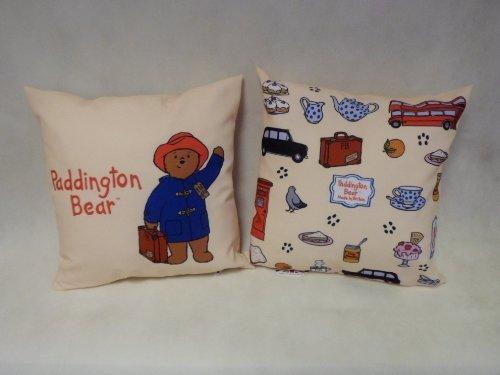 Paddington Bear Design Cushion In Soft Cream.