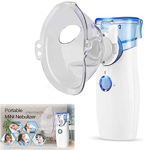 WXYLYF Tragbare Vaporizer Machine Compressor Tragbare Dampf Mini Cool Mist Vaporizer, Um Therapie Erwachsene Kinder Vapour Für White Bronchitis