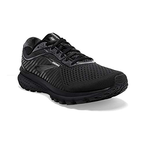 Brooks Womens Ghost 12 Running Shoe - Black/Grey - B - 10.5