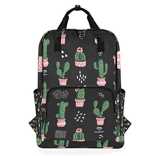 Rucksack für Studenten, Kaktus-Muster, für Grundschule bis 35,6 cm (14 Zoll) Laptop-Tasche, Schultasche, Geschenk für Kinder, Mädchen, Jungen, Teenager