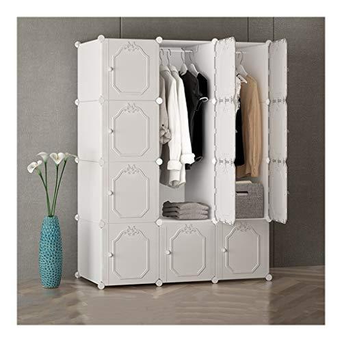 Armadio semplice e moderno montaggio economico dormitorio semplice porta scorrevole armadio a noleggio casa soggiorno grande rollsnownow bianco