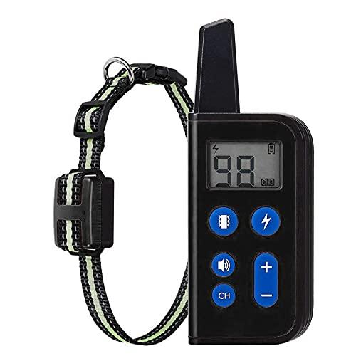 Putybudy Control de Sonido Automático Tapón de Ladridos, Collares de Choque Recargables Impermeables IPX7 para Perros 3 Modos de Entrenamiento, para Perros Pequeños, Medianos (Negro 2*Receptores)