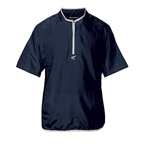 EASTON M5 CAGE Short Sleeve Jacket | 2020 | Lightweight, Mobility Breathable Design For Game Day | Practice | Off Field Use | Baseball | Elastic Bound Hem + Neck + Cuffs | Customizable w/ Decorations