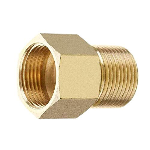 HNYRI Pressure Washer Coupler, Metric M22 15mm Male Thread to M22 14mm Female Fitting, Internal Thread Hose Pipe Adapter, 4500 PSI (M22 15mm Male to M22 14mm Female)