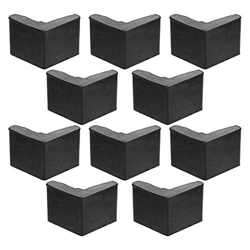 Balacoo 10Pcs L Geformt Möbel Bein Caps Ende Umfasst Protektoren (Schwarz)