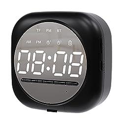 Ankylin Mini Digital Alarm Clock Radio with Bluetooth Speaker, Electronic Alarm Clocks for Bedroom, Desk Table Clock for Kids and Seniors, Small Digital Clock,2 Alarm Setting,5 Alarm Sounds,12/24 Hour