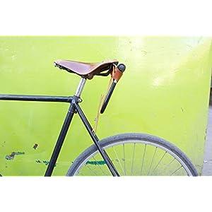 Oopsmark Funda U-Lock para candados de Bicicleta Kryptonite - Cuero Negro