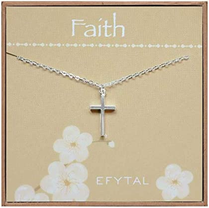 EFYTAL Small Cross Necklace for Women and Girls Christian Gifts for Easter First Communion Confirmation product image