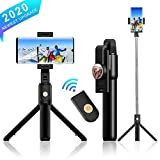 Comter Selfie Stick, Extendable Bluetooth Selfie Stick with Detachable Wireless Remote,3 in 1