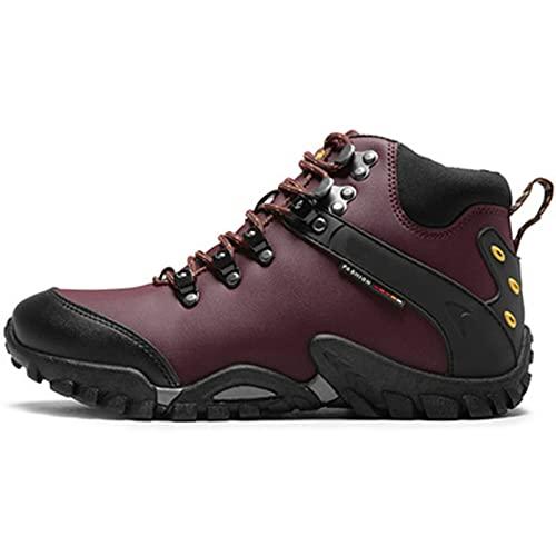 generetic Zapatillas De Trail Running Ante Impermeables Mujer e Hombres Botas de Nieve Trekking Antideslizante Amortiguación Exterior Deportes Shoes Ligero Respirable Correr Calzado