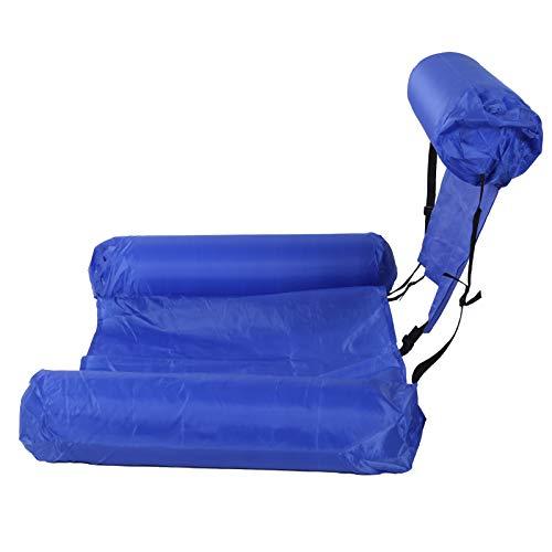 Hamaca de agua, inflable, robusto, práctico, plegable, flotador de natación para playa, jardín, patio, piscinas