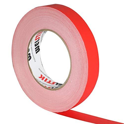 Wellstik - Nastro sottile per gaffa, 25 mm x 30,2 m, colore: Rosso