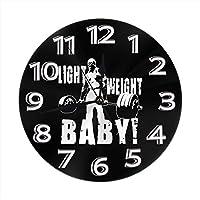 [CSHQ] 壁時計 ロニー・コールマン Ronnie Coleman 掛け時計 部屋装飾 シンプル おしゃれ 人気 丸形 時計 室内飾り物 静音 連続秒針 新築祝い 結婚祝い プレゼント インテリア