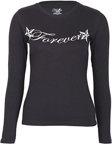 Küstenluder Damen Oberteil Forever and a Day Langarm Shirt Schwarz L