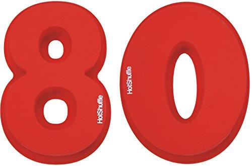 HotShuffle Grand Nombre de Silicone 80 Moule à gâteau Moule 80e Anniversaire Anniversaire de Mariage 8 0