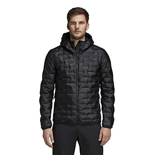 adidas Outdoor Men's Lite Down Hoodie, L, Black