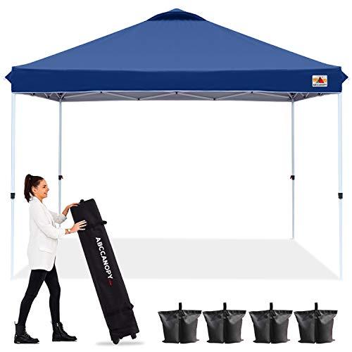ABCCANOPY 10'x10' Pop up Canopy Instant Outdoor Tent Instant Shelter, Bonus Wheel Bag, Navy Blue