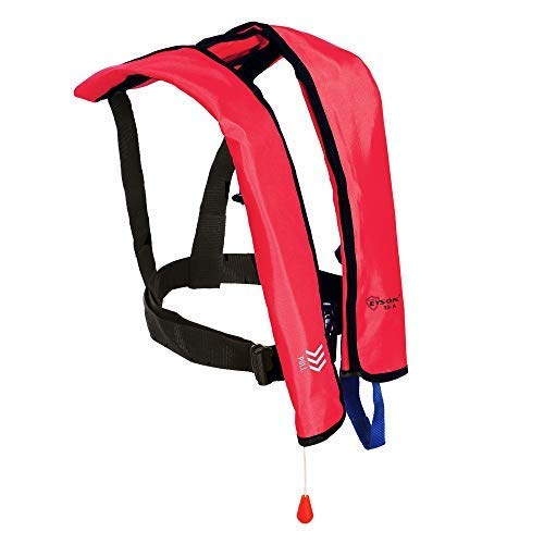 Top Safety Adult Life Jacket with Whistle - Manual Version Inflatable...
