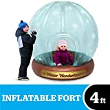 """BigMouth Inc. Giant Inflatable Snow Globe Fort – Measures 48"""" x 46"""" x 53"""", Made of Durable Vinyl with Welded Seams –Indoor and Outdoor Play Fort, Makes a Great Gift"""