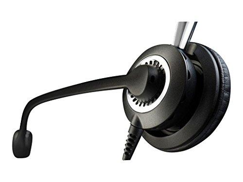 Jabra Biz 2400 II Duo USB leistungsfähiges Call-Center-Kabel-Headset für MS Skype for Business, Controller mit programmierbaren Tasten, NC