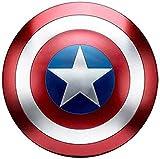 Capitan America Scudo, Props Cosplay Supereroe Metal Shield Shield Halloween Retro Costume Accessori Bar Scudo Parete Appeso Decorazioni ( Color : 1 )