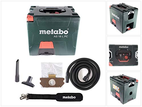 METABO Akku-Sauger AS 18 L PC (602021850); mit manueller Filterreinigung; Karton