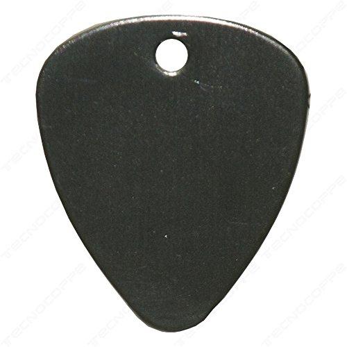 tecnocoppe Plektrum mit persönlicher Gravur Farbe schwarz mit Kette-Schlüsselanhänger