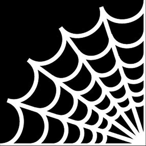 unknow 15 * 15CM Cartoon Spider Web Autoaufkleber Vinyl Auto-Styling Aufkleber Schwarz/Silber