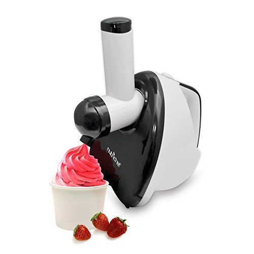 NutriChef Upgraded 2-in-1 Dessert Maker Fruit Blender, Soft Serve, Healthy Snacks, Great For Frozen Yogurt, Ice Cream, Sorbet, Smoothie, Salads - PKELS80