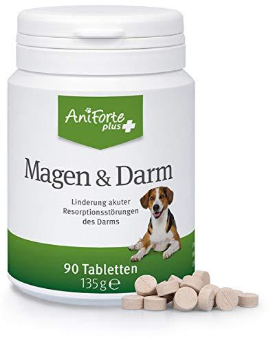 AniForte Plus Magen & Darm für Hunde 90 Tabletten - bei akutem Durchfall, Magen-Darm-Beschwerden, Durchfallerkrankung, Präbiotika für eine gesunde Darmflora, Linderung Resorptionsstörungen