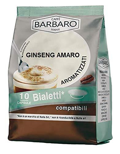 KOFFIE GINSENG BARBARO - 10 BIALETTI COMPATIBELE CAPSULES 6.3g