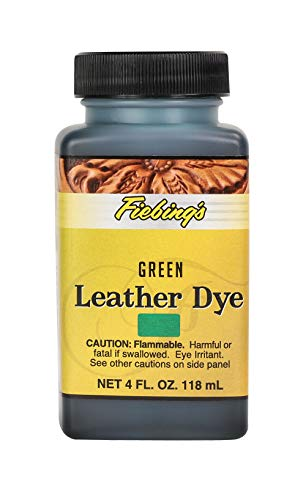 Fiebing's Leather Dye - Alcohol Based Permanent Leather Dye - 4 oz - Green