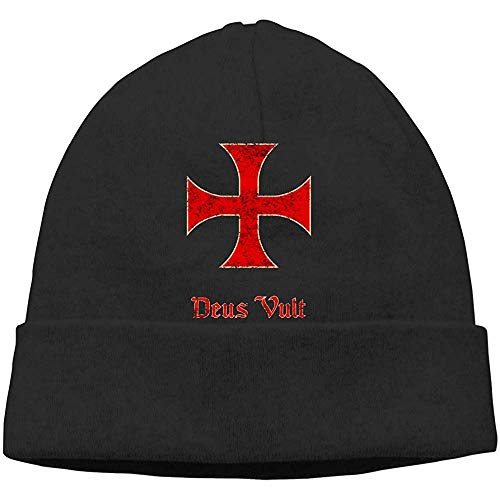 LinUpdate-Store Deus Fills Crusader Templar Berretti muts met doodskopmuts gebreide muts volwassenen