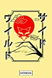 Japanese Kitsune Wild Side Traditional Drawing Notebook: Journal, 6x9 120 Pages, Lined College Ruled Paper, Diary, Planner, Matte Finish Cover