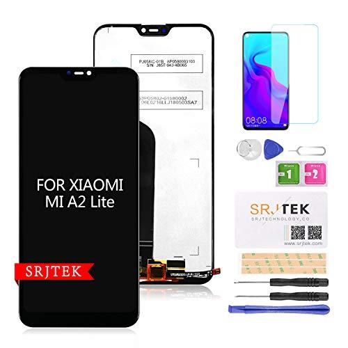 SRJTEK para XIAOMI A2 Lite LCD de repuesto, para Xiaomi Mi A2 Lite/Redmi 6pro Redmi 6 Pro M1805D1SG M1805D1ST LCD Digitalizador de pantalla táctil Kit de montaje de cristal (negro)