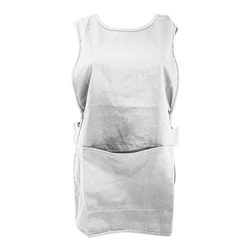 Warrior - Grembiule da Lavoro con Tasche (M) (Bianco)