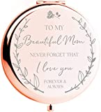 Mom Birthday Gifts for Mom - I Love You Mom Rose Gold Compact Mirror I Gifts for Mom from Daughter I Mom Gifts for Birthday I Best Mom Gifts from Son I Sentimental Gifts for Mom I Presents for Mom