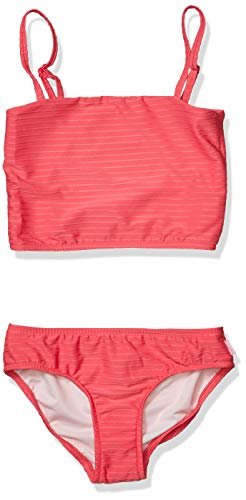 Seafolly Mädchen Tube Swimsuit Tankini-Set, Paisley Park Rib Madonna Pink, 38 DE