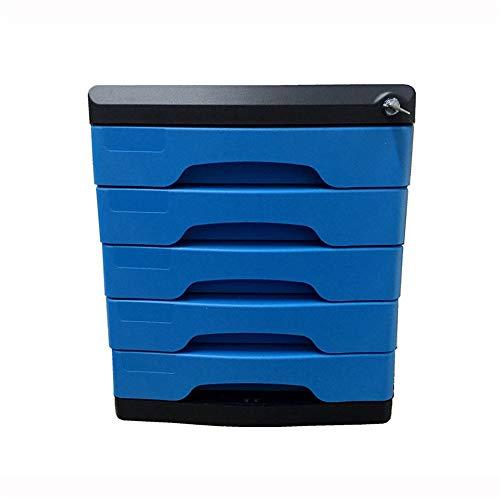 Chengzuoqing Speichermodul Desktop File Cabinet Fünf-Schicht Abschließbare Desktop File Cabinet Schreibtisch-Organisator Compartment Rack-Anzeige und Speicherung für Büro, Home Office