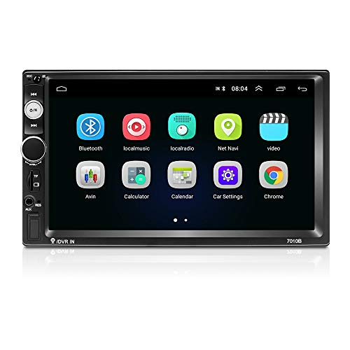 Android 9.1 Autoradio Bluetooth 2 DIN 7 Pollici 1080P HD Touch Screen Supporto GPS Navigation WiFi Collegamento Mirror FM Radio 2G/16G Car Multimedia Radio (Telecamera Posteriore Inclusa)