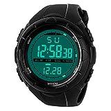 Mens Sports Digital Watch - 5 Bars Waterproof Military Digital Watches with Alarm/Timer/SIG, Black...