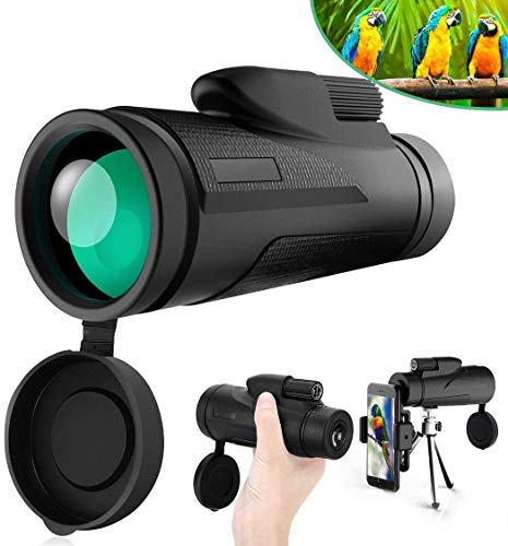 Monoculaire telescopen - 12X50 Monoculaire Telescope HD Waterproof Shockproof Telescoop met Smartphone Mount & Statief for Camping Bird Watching Travel Hunting Football Match Concert Levende