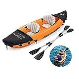 ZDW Inflable/Blow up Dos Personas kayak/canoa con los deportes náuticos Paddle, brillante dinámica del diseño del modelo, conveniente para el lago y el río Rafting