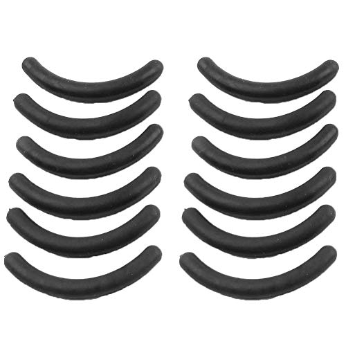Lot de 12 tampons de rechange pour bigoudis cils en caoutchouc