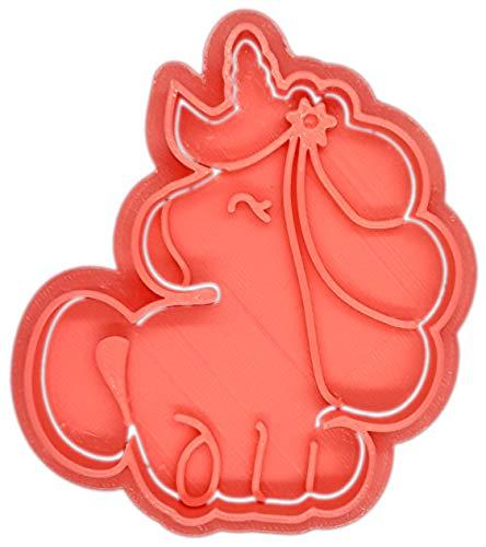 Molde Cortador de Galletas – Fantasía – Unicornio (Coral)