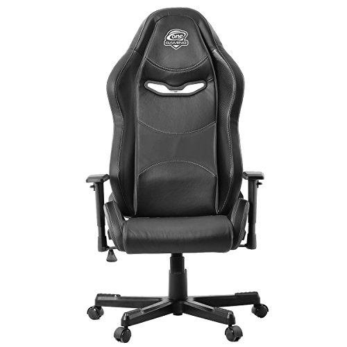 One Gaming Chair Basic Black - Ergonomischer Gamingstuhl - Verstellbare Armlehne & Höhe - Maximalbelastung 100 Kg - Chefsessel - Bürostuhl - Schreibtischstuhl